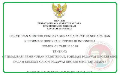 Permenpan RB Nomor 61 Tahun 2018