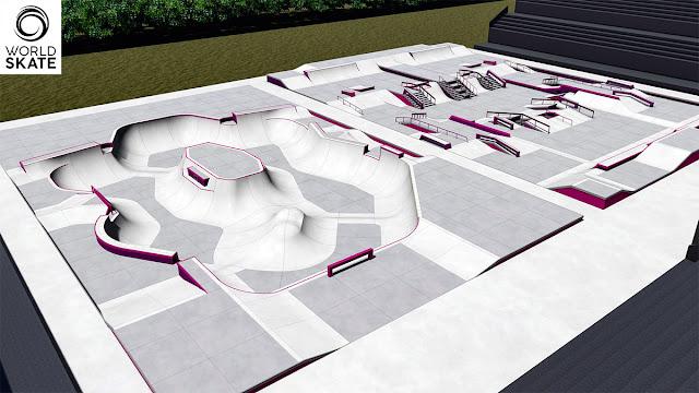 A World Skate divulgou o projeto das pistas de Park e Street para os Jogos de Tóquio, que para o skate acontecerão no Ariake Urban Sports Park.