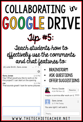 5 ways to avoid disasters when students are collaborating in Google Drive. Tip #5: Teach students how to effectively use the comments and chat features