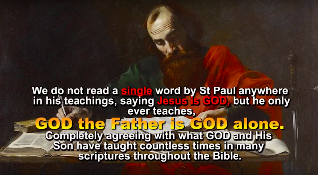 St Paul only ever taught, there is only ONE being who is GOD, who is the Father, and ONE being who is the Lord Jesus Christ, who is GOD's literal Son.