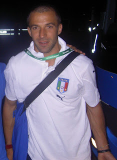 Del Piero leaving the stadium after his  World Cup semi-final goal against Germany
