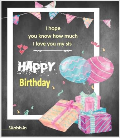 Happy birthday my lovely sis