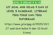 127 Soal AKM Kelas 9 dan 10 Level 5 Numerasi, Literasi Teks Fiksi dan Teks Informasi