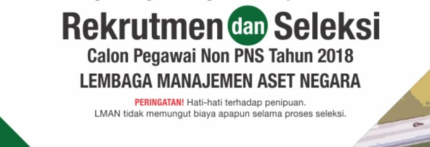 Rekrutmen NON PNS di Lembaga Manajemen Aset Negara (LMAN)
