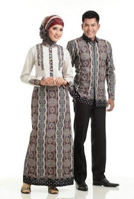 model baju batik couple pasangan untuk pesta