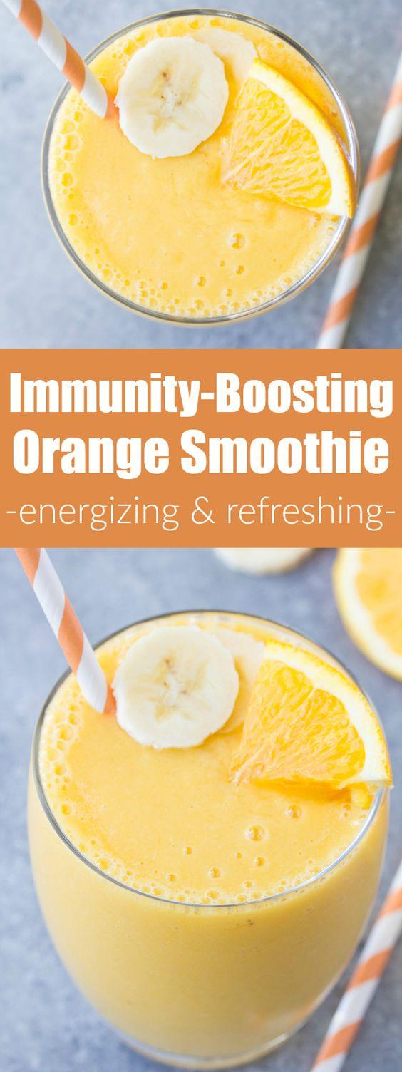 Immunity Boosting Orange Smoothie