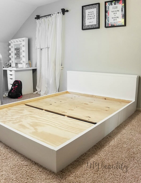 How To Build A Modern Platform Bed For 125 Diy Beautify Creating Beauty At Home