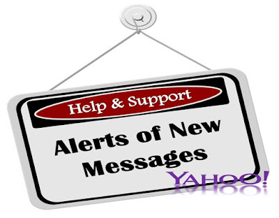 Alerts message in yahoo