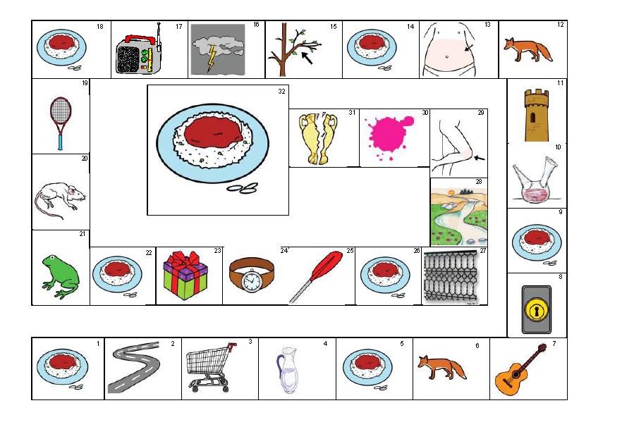 Materials De Logopedia Juegos De La Oca De 32 Cuadros