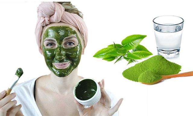 Cách Làm đẹp da mặt bằng bột trà xanh