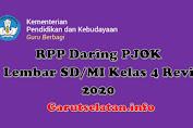 RPP Daring PJOK 1 Lembar SD/MI Kelas 4 Revisi 2020