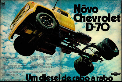propaganda caminhão Chevrolet D-70 - 1970; história anos 70; propaganda década de 70; Brazilian advertising cars in the 70s; reclame anos 70; Oswaldo Hernandez;