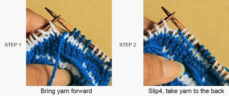 Anything Creative: Multicolor Knit Pattern a Day - Day 6 - WAVE PATTERN