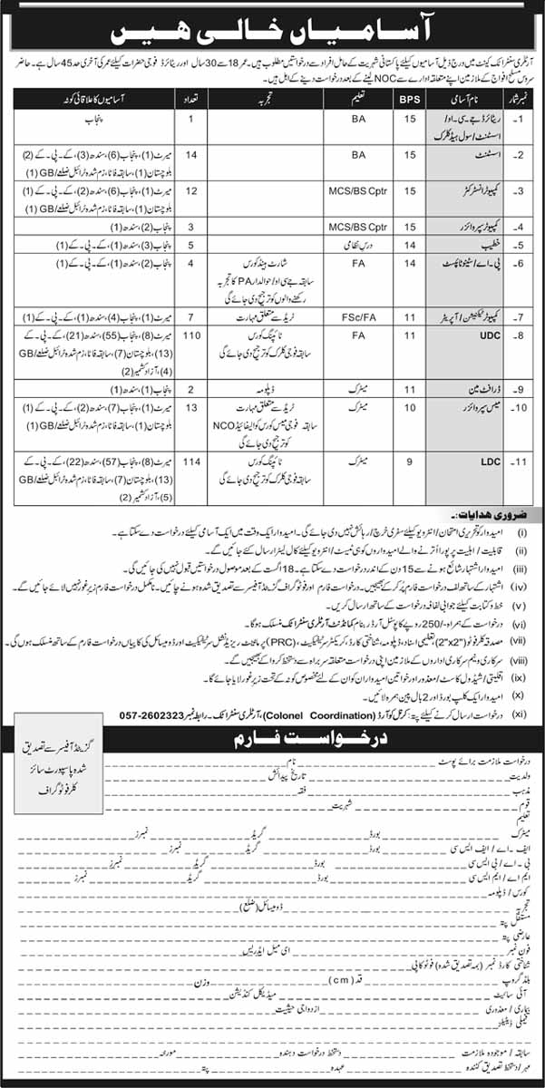Jobs In Artillery Centre Attock Cantt