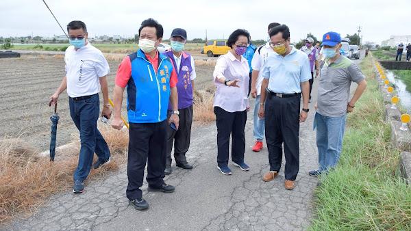 竹塘、二林、芳苑農路破損 王惠美視察指示鋪平15條農路