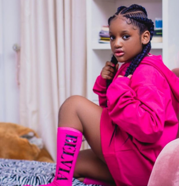 Child abuse: Fans reacts to 2face Idibia's daughter Belvia photo shoots.