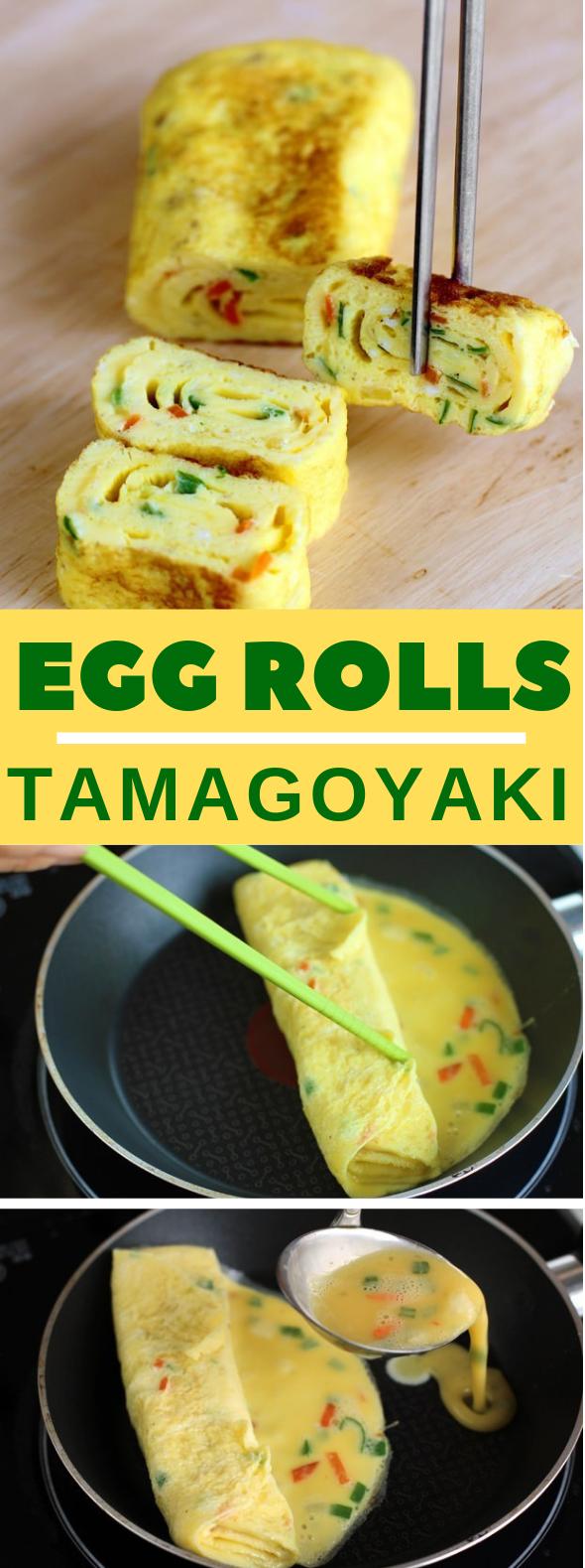 Egg Rolls Recipe - Tamagoyaki #healthyfood #koreanstyle