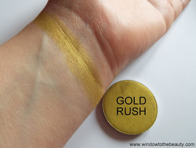 Melkior shimmer eyeshadow Gold Rush swatches