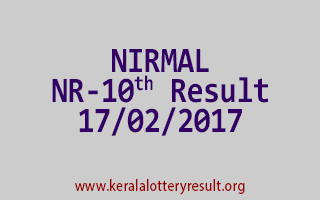 NIRMAL NR 10 Lottery Results 17-02-2017