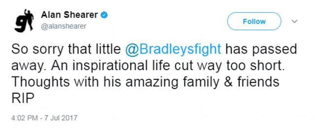 Six-year-old Bradley Lowery