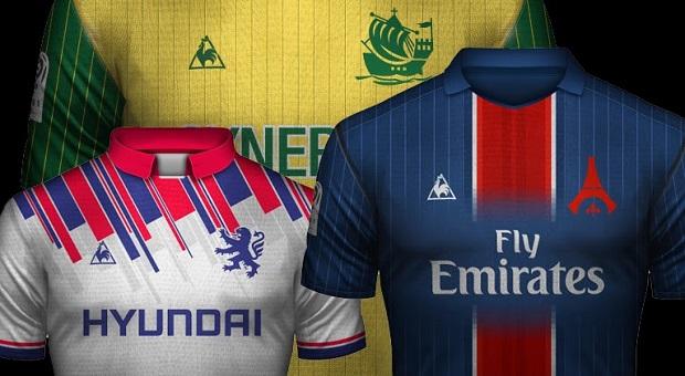 Projet de design des maillots des clubs de Ligue 1 avec la marque Le Coq Sportif