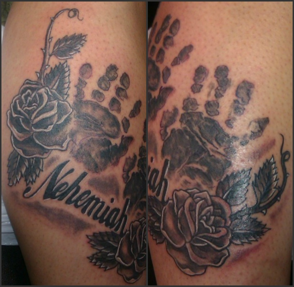 My Tattoo Designs: Baby Handprint Tattoos
