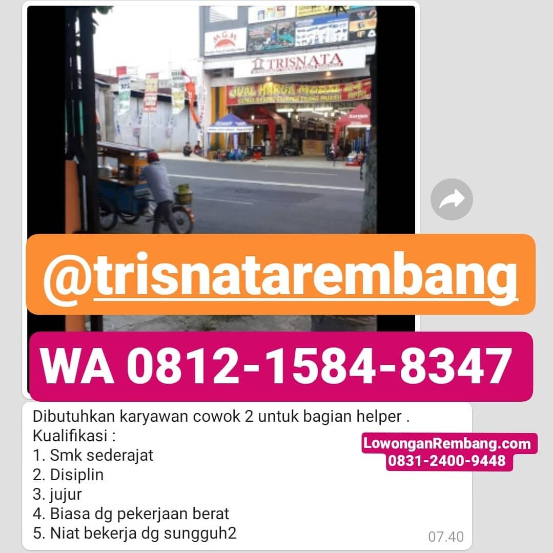 2 Lowongan Kerja Toko Bangunan Trisnata Rembang
