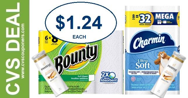 Bounty & Charmin CVS Coupon Deal $1.24 1-12-1-18