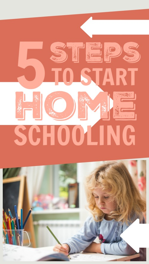 5 Steps to Start Homeschooling #homeschooling #homeeducation #homeschool