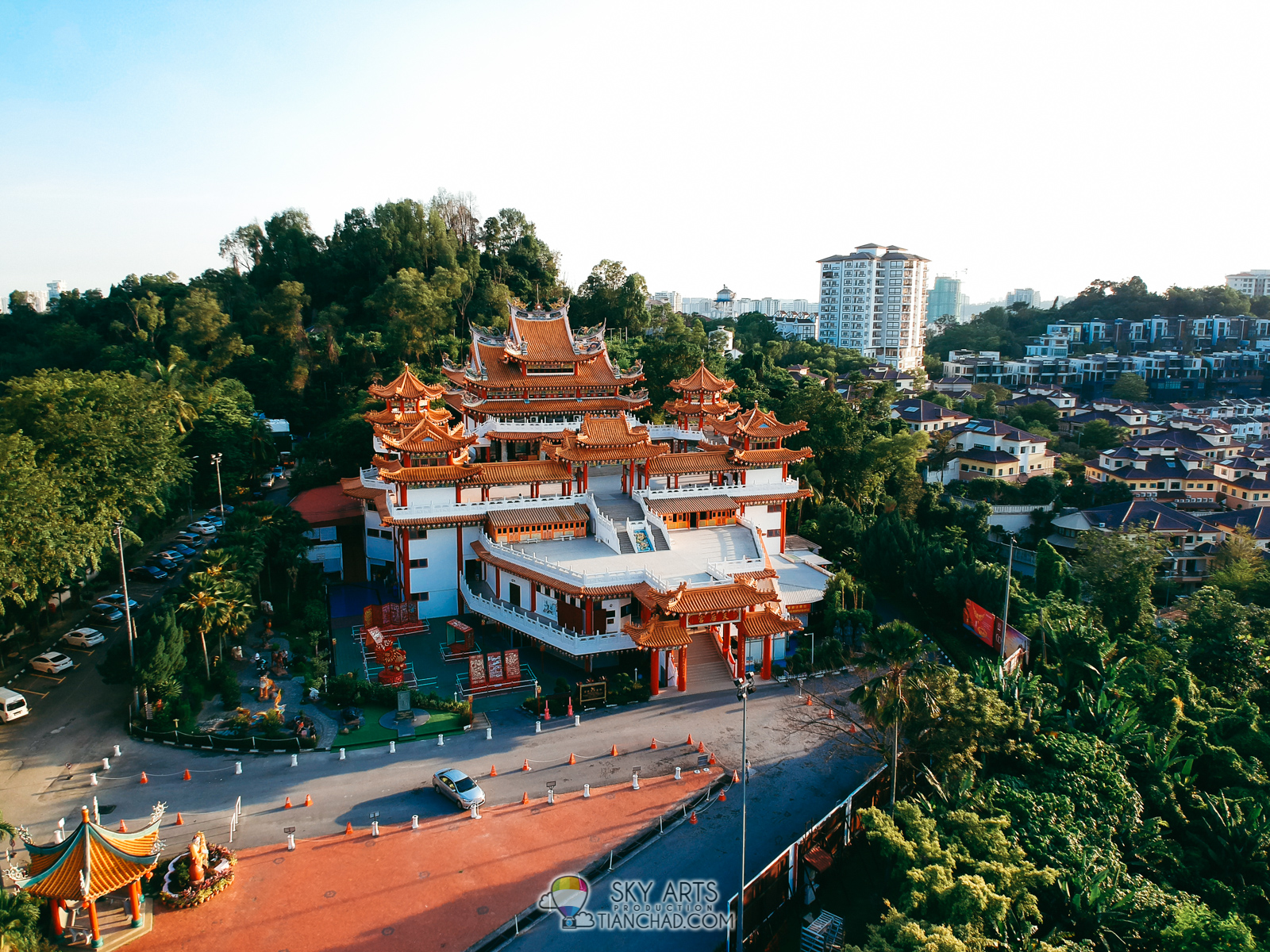 Thean Hou Temple Bird Eye View Captured Using DJI Spark