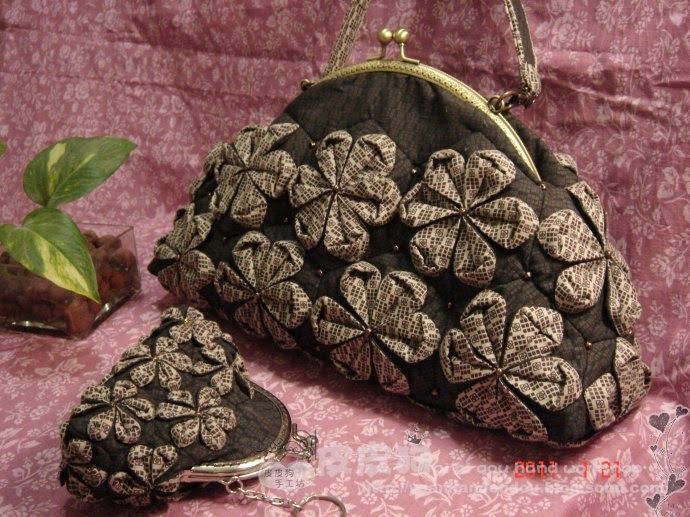 Quilting - handbag with flowers