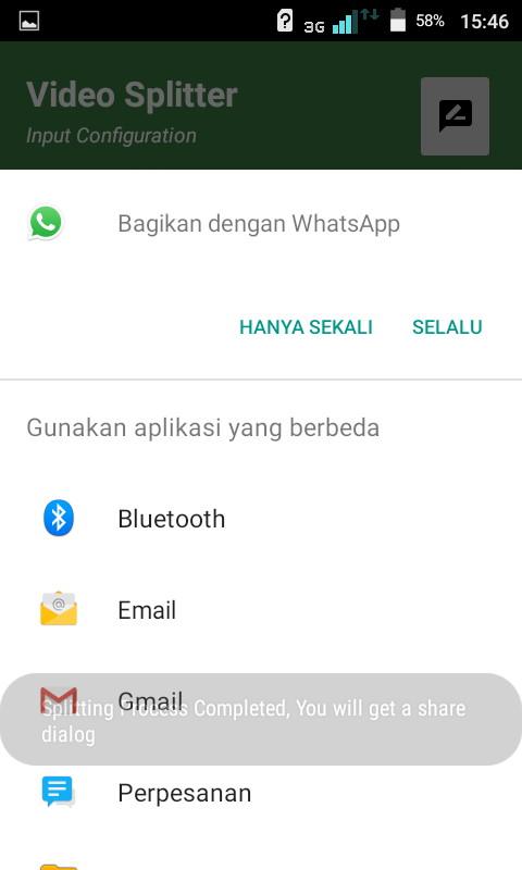 gambar video berdurasi lama di status WhatsApp