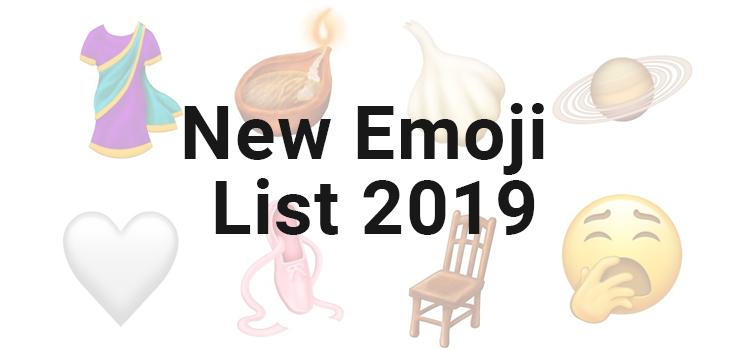 New Emoji of 2019