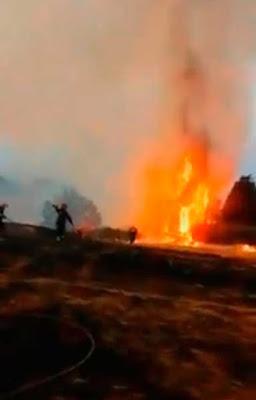 Pendientes aplazamiento partido segunda división Las Palmas Huesca por incendio forestal en Gran Canaria