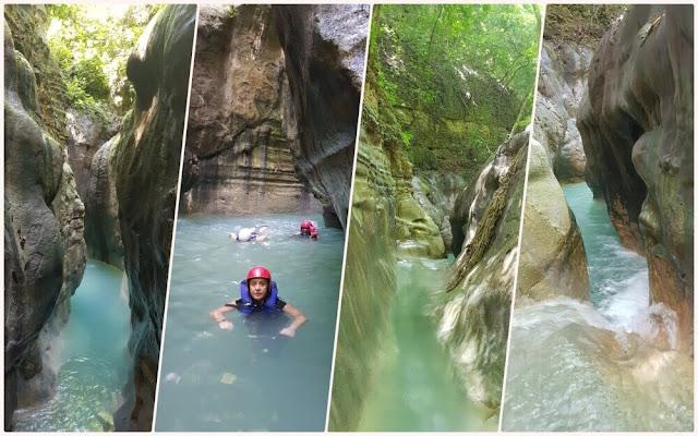 nadando por los Saltos de Damajagua