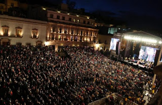 plaza de armas festival cultural de Zacatecas 2020
