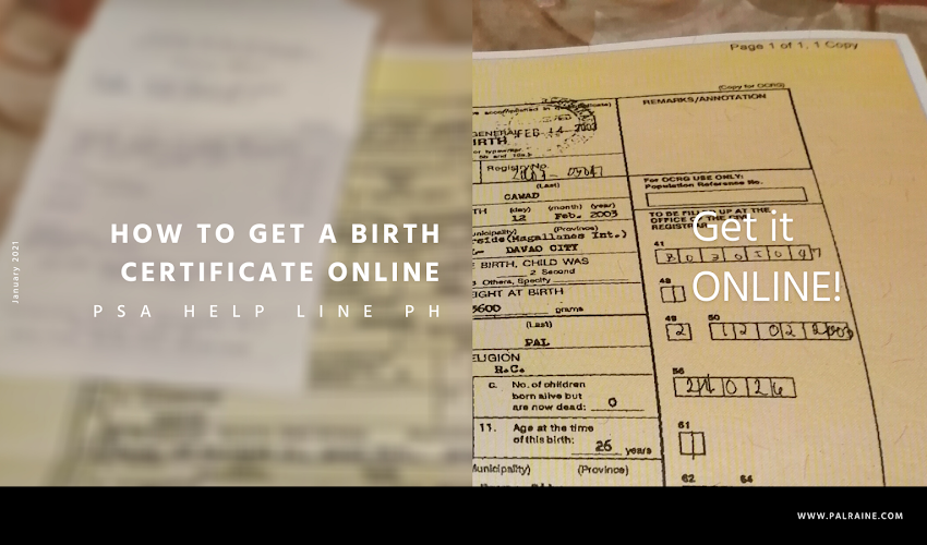 How To Get A Copy Of Your Children's PSA Birth Certificate
