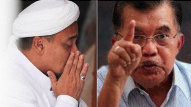 Jusuf Kalla: HRS Pulang, Negara Goncang!
