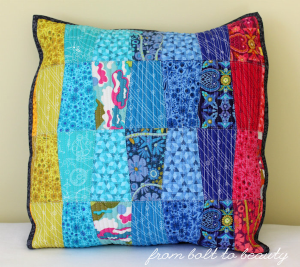 Quilted Alison Glass pillow