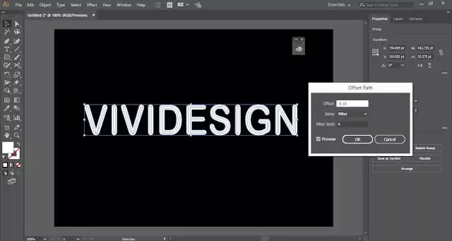 Neon Text Effect in Adobe Illustrator