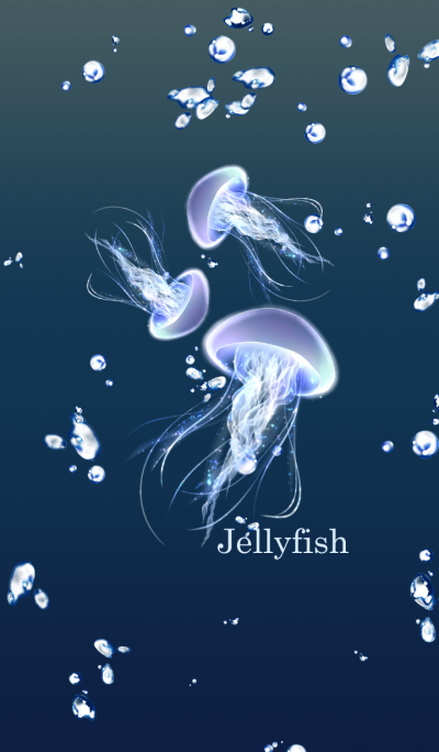 Jellyfish and sea foam