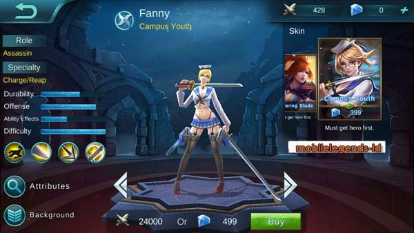 Skin dari hero Fanny