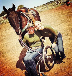 Amberley Snyder with her friend & horse