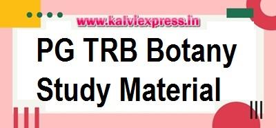 PG TRB Botany Study Material