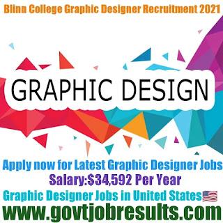 Blinn College Graphic Designer Recruitment 2021-22