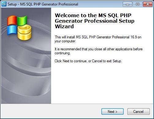 MS SQL PHP Generator Professional 16.9 Full Español