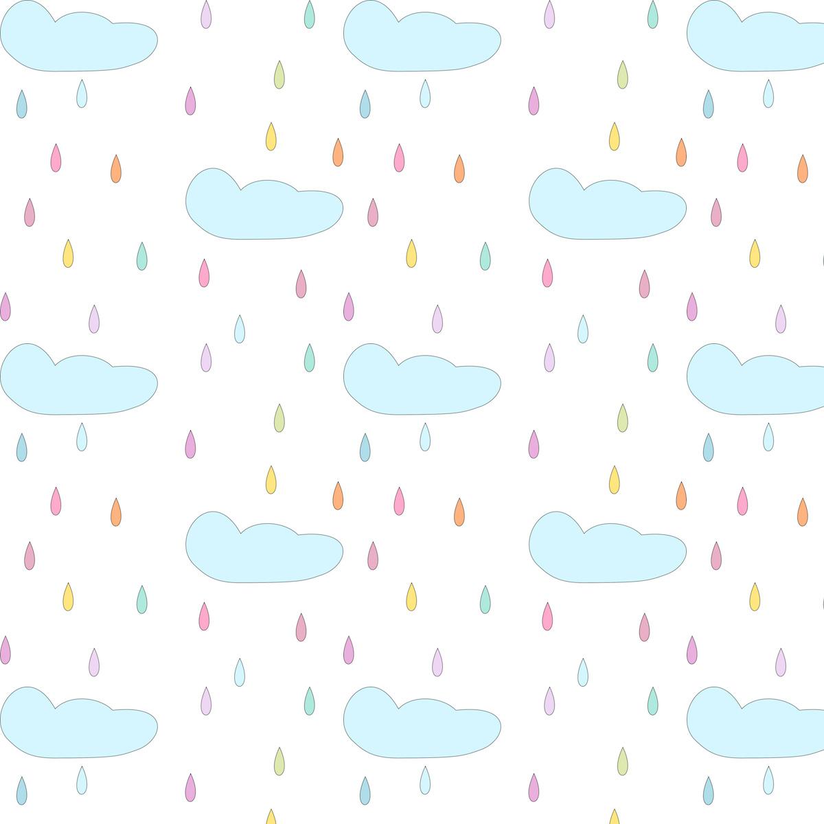 Scrapbook paper clouds - Free Digital Rain Drops Scrapbooking Paper Freebie