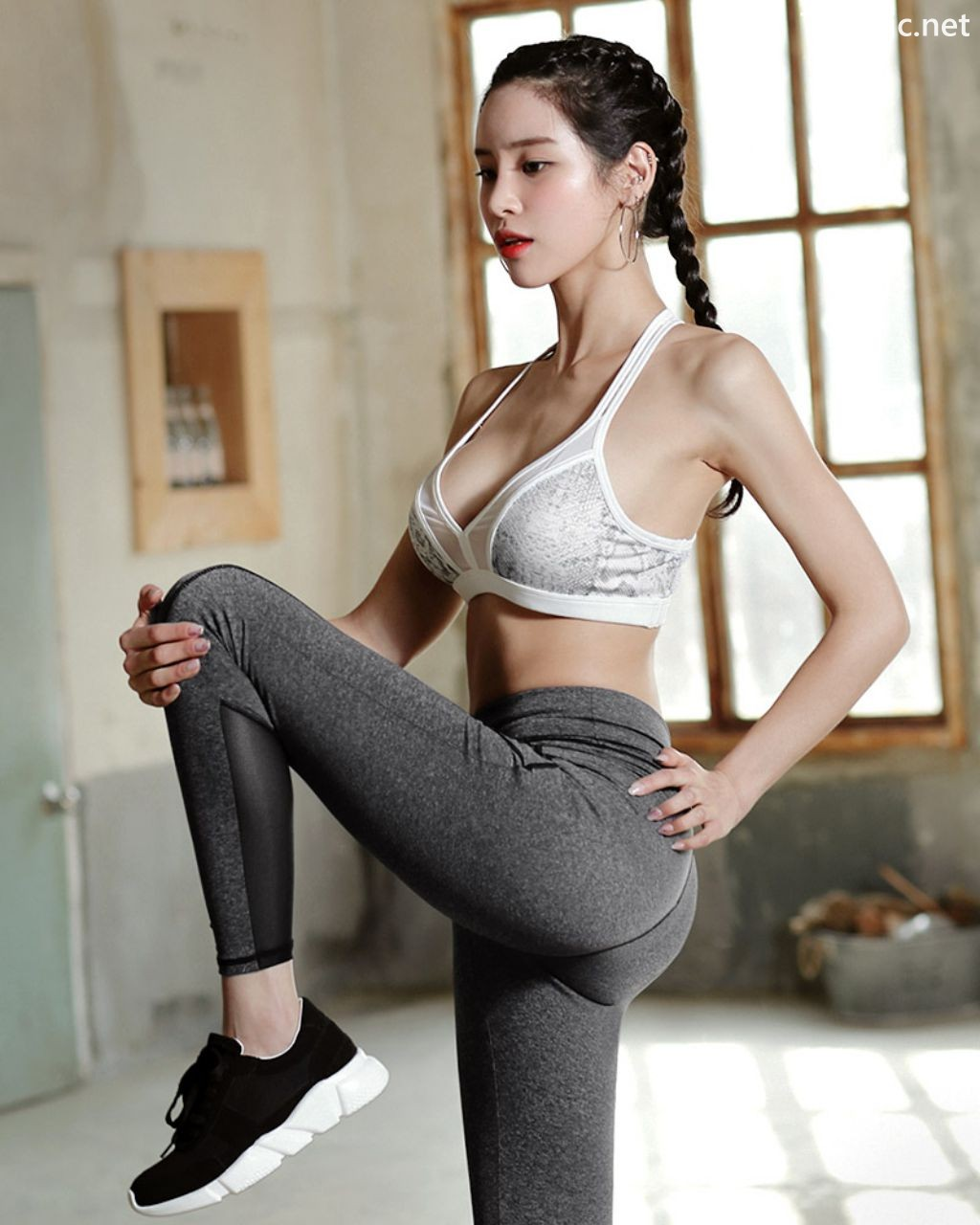 Image-Korean-Fashion-Model-Ju-Woo-Fitness-Set-Collection-TruePic.net- Picture-8