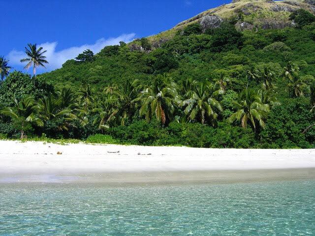 オーストラリアから近い南の島フィジーのビーチの写真