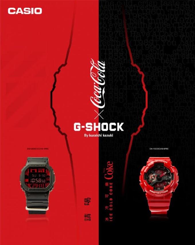 Kolaborasi Terbaru Coca-Cola x G-Shock DW-5600 and GA-110